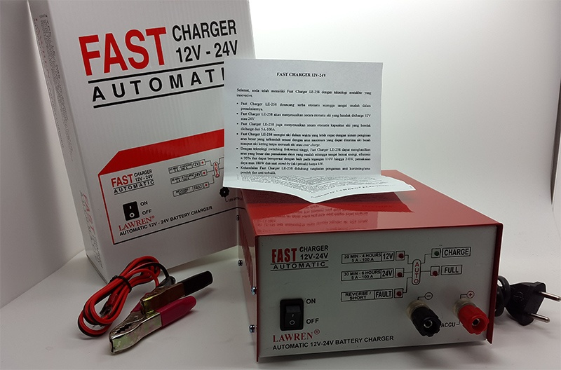 charger aki fast charger 100a