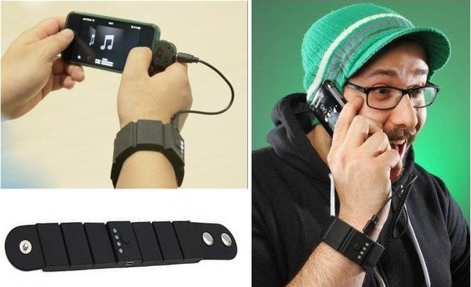 The TsirTech Wrist Band Charger Powers Your Gadget While You're Using It