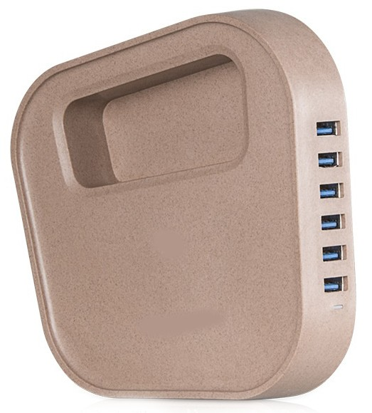 hoco-uh601-intelligent-balance-usb-wall-travel-charger-6-port-8a-brown-7