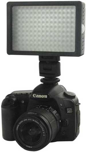 LED-Video-Light-for-Camera-DV-Camcorder-Canon-Nikon-Sony---HD-160---Black-2