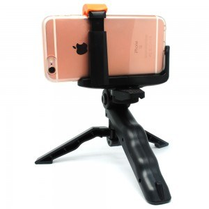 Universal Holder L Clamp Orange Flip for Smartphone