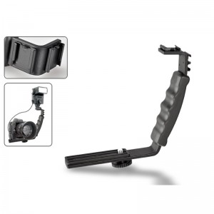 L Bracket Flash Light-Microphone Holder for DSLR- Camcorder-Mirrorless