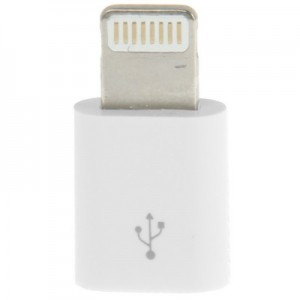 Micro USB Female to Lightning 8 Pin Adapter for iPhone 5/5s/SE, iPad A