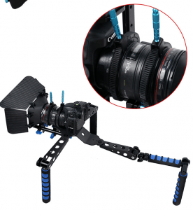 Rubber Follow Focus Gear Ring Belt with Aluminum Alloy Grip for DSLR