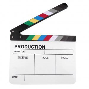 colourful clapperboard
