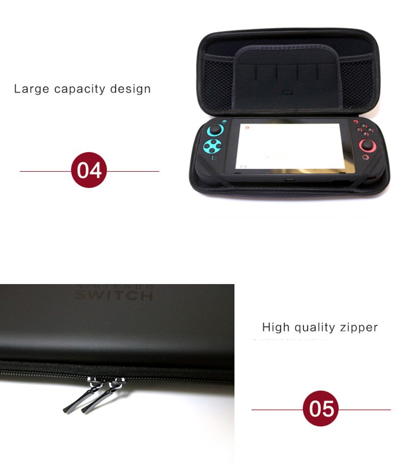 Tas Case Travel Nintendo Switch Promo:Screen Protector & Analog Cap