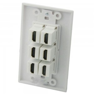 face palte hdmi 6 port