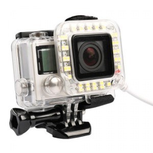 usb led light lens ring gopro