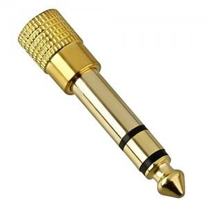 Headphone Jack Adapter 3.5mm 1/8 ke 6.5mm 1/4 Stereo