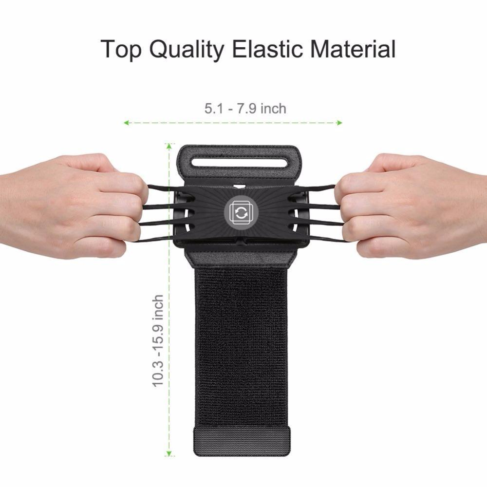 Wristband Smartphone Holder 180 Degree Rotatable 4