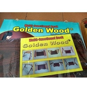Meja Laptop / belajar original kayu Golden Wood made in indonesia