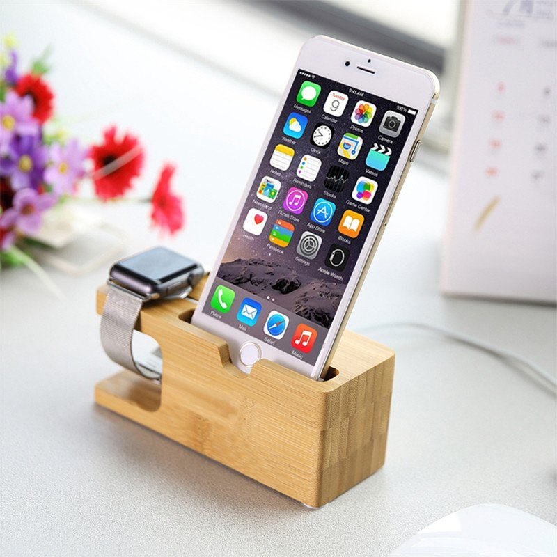 holder smartphone kayu
