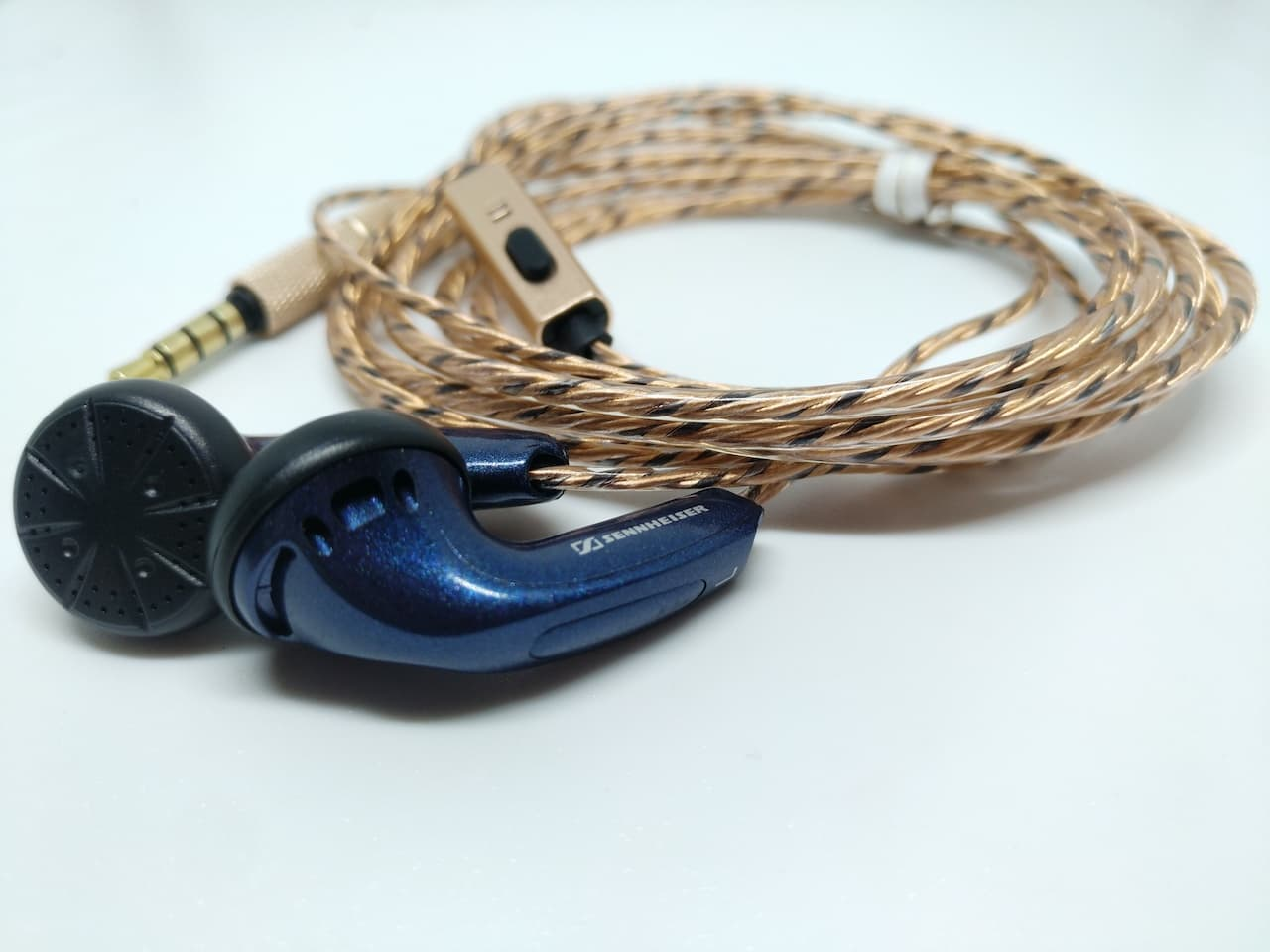 DIY Earbud Sennheiser MX500 With Mic Version 2.0 High Quality Earphone - Biru